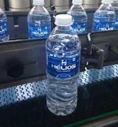Nova embalagem da garrafa de água Hélios: mais leve. reduzirá o consumo de 200 toneladas de plástico.